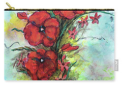 Pretty Poppies Carry-all Pouch