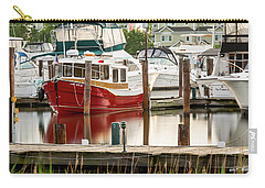 Pretty Red Boat Carry-all Pouch