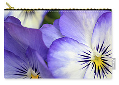 Carry-all Pouch featuring the photograph Pretty Violas by Ann Bridges