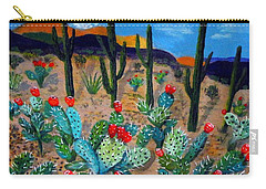 Prickly Pear Cactus Tucson Carry-all Pouch