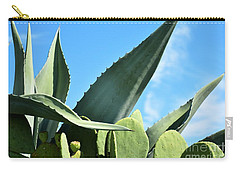Carry-all Pouch featuring the photograph Prickly Pear Cactus And Century Plant by Ray Shrewsberry