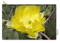 Prickly Pear Cactus Blossom - Opuntia Littoralis Carry-all Pouch