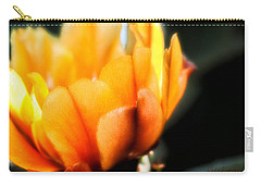 Carry-all Pouch featuring the photograph Prickly Pear Flower by Lynn Geoffroy