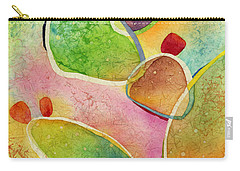 Carry-all Pouch featuring the painting Prickly Pizazz 1 by Hailey E Herrera