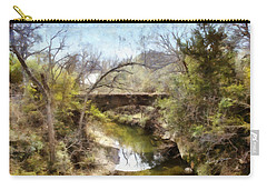 Bridge At The Zoo Carry-all Pouch by Ricky Dean