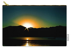 Priest Lake Sunrise Carry-all Pouch by David Patterson