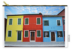 Carry-all Pouch featuring the photograph Primary Colors Too Burano Italy by Rebecca Margraf