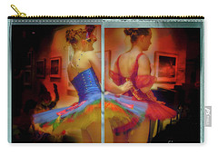 Carry-all Pouch featuring the photograph Primping Ballerinas by Craig J Satterlee