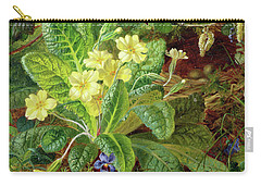 Primrose And Robin Carry-all Pouch by William John Wainwright