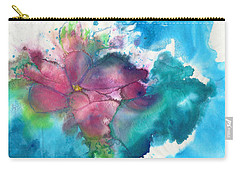 Carry-all Pouch featuring the painting Primrose by Joan Hartenstein