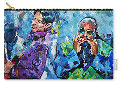 Carry-all Pouch featuring the painting Prince And Stevie by Richard Day