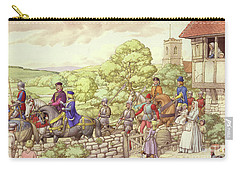 Prince Edward Riding From Ludlow To London Carry-all Pouch by Pat Nicolle
