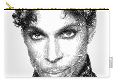 Prince - Tribute Sketch In Black And White Carry-all Pouch