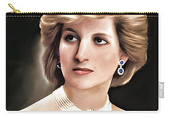 Carry-all Pouch featuring the digital art Princess Diana by Pennie  McCracken