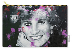 Carry-all Pouch featuring the painting Princess Diana by Richard Day