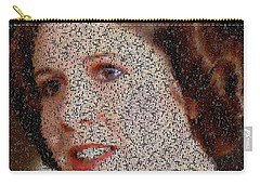 Princess Leia Quotes Mosaic Carry-all Pouch by Paul Van Scott
