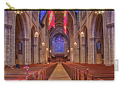 Carry-all Pouch featuring the photograph Princeton University Chapel by Susan Candelario