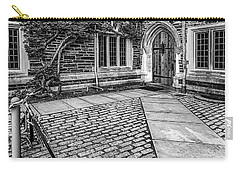 Carry-all Pouch featuring the photograph Princeton University Foulke Hall Bw by Susan Candelario