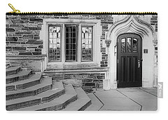 Carry-all Pouch featuring the photograph Princeton University Lockhart Hall Bw by Susan Candelario