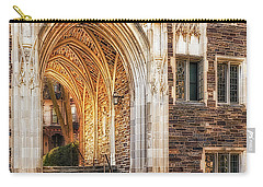 Carry-all Pouch featuring the photograph Princeton University Lockhart Hall Dorms by Susan Candelario