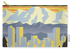 Barcelona Retro Travel Poster Carry-all Pouch by Jim Zahniser