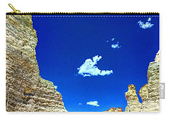 Pristine Sky Meets Historic Rocks Carry-all Pouch