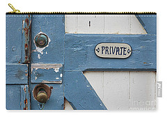 Carry-all Pouch featuring the photograph Private by Ana V Ramirez