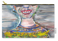 Carry-all Pouch featuring the painting Probably Reincarnated by Fabrizio Cassetta