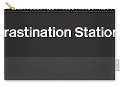 Procrastination Station- Art By Linda Woods Carry-all Pouch
