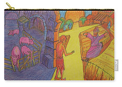 Prodigal Son Parable Painting By Bertram Poole Carry-all Pouch by Thomas Bertram POOLE