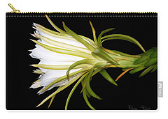 Profile Night Blooming Cereus Carry-all Pouch by Barbara Chichester