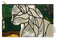 Profile Of A Cat Carry-all Pouch by Marie Neder