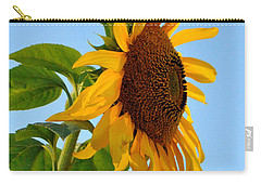 Profile Of A Sunflower Carry-all Pouch by Kathleen Sartoris
