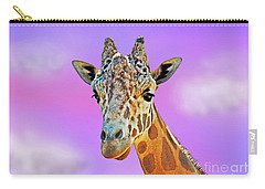 Carry-all Pouch featuring the photograph Profile Portrait Of A Giraffe IIi by Jim Fitzpatrick