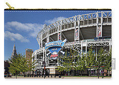 Carry-all Pouch featuring the photograph Progressive Field In Cleveland Ohio by Dale Kincaid