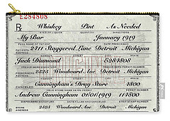 Carry-all Pouch featuring the photograph Prohibition Prescription Certificate My Bar, by David Patterson