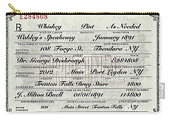 Carry-all Pouch featuring the photograph Prohibition Prescription Certificate Speakeasy by David Patterson