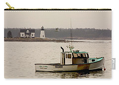 Prospect Harbor Lighthouse Carry-all Pouch by Brent L Ander