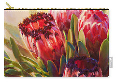 Carry-all Pouch featuring the painting Protea - Tropical Flowers From Hawaii by Karen Whitworth