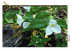 Carry-all Pouch featuring the photograph Protected Wild Trillium  by LeeAnn McLaneGoetz McLaneGoetzStudioLLCcom