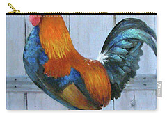 Carry-all Pouch featuring the painting Proud Rooster by Oz Freedgood