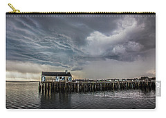 Carry-all Pouch featuring the photograph Provincetown Storm, Cabrals Wharf by Charles Harden
