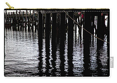 Carry-all Pouch featuring the photograph Provincetown Wharf Reflections by Charles Harden