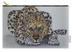 Carry-all Pouch featuring the painting Prowling Leopard by Kelly Mills