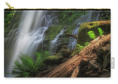 Carry-all Pouch featuring the photograph Proxy Falls by Cat Connor