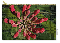 Carry-all Pouch featuring the photograph Psychedelic Bud by Jean Noren