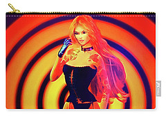 Psychedelic Hypnotic Pin-up Girl Carry-all Pouch