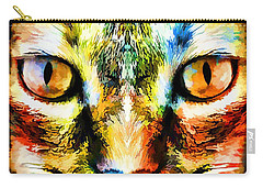Psychedelic Kitty Cat Carry-all Pouch