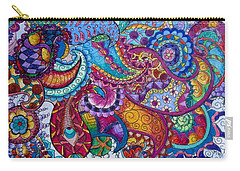 Psychedelic Paisley Carry-all Pouch