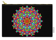 Psychedelic Porcupine Mandala Carry-all Pouch